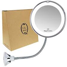 gooseneck magnifying mirror with light