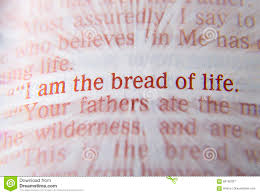 Bible Text - I Am The Bread Of Life - John 6:48 Stock Image ...