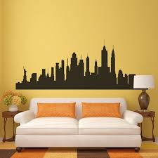 New York City Skyline Wall Decal Nyc Silhouette Vinyl Home Removable Art Decor For Sale Online
