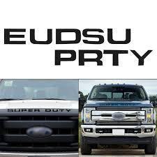 Glossy Black Thin Vinyl Super Duty Letters Decal Stickers For Ford F 250 F 350 F 450 F 550 Front Grille Hood Walmart Com Walmart Com