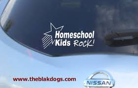 Homeschool Kids Rock Vinyl Sticker Car Decal Homeschool Etsy