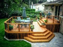 floating deck designs simple plans