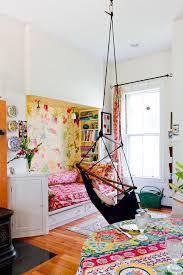 Hammock Bedroom Bright Floral Rug Eclectic Kids Bohemian Style Bedroom Design Boho Kids Room Bedroom Design