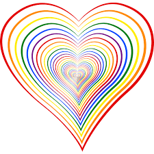 heart 8 colour 2 free svg