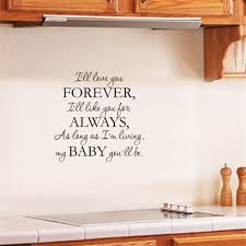 L Ll Love You Forever Art Apothegm Home Decal Wall Sticker Sale Price Reviews Gearbest