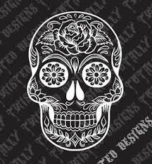 Sugar Skull Car Truck Vinyl Decal Sticker Day Of The Dead Mexico Rockabilly Ebay
