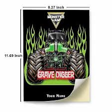 Grave Digger Monster Truck A4 Glossy Stickers Wall Sticker Decals Art Print Ebay