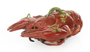 A Meissen dot-period lobster tureen and ...