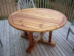 round wood patio table diy patio