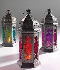 antique finish iron moroccan lantern