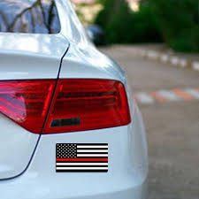 Thin Red Line American Flag Sticker Thin Blue Line Usa