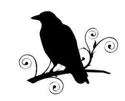 Crow Raven On Curly Branch 688 Vinyl Sticker Decal Custom Made To Order Ebay