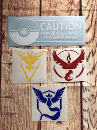 Pokemon Vinyl Autodecals Teamvalor Teaminstinct Teammystic Pokemongo Pokemonteam Vinyl Decals Novelty Sign Etsy