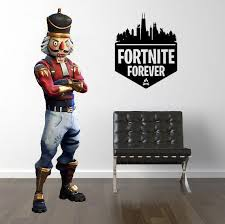 Inspired By Fortnite 4 Ever Forever Gamer Wall Decal Sticker 10 W By Lucky Girl Decals