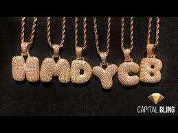 Custom Bubble Letter Necklaces from Capital Bling - YouTube
