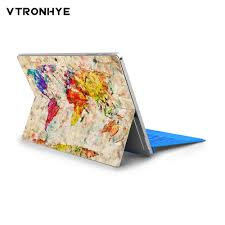 Vinyl Decal Geographic Map Notebook Stickers For Microsoft Surface Pro 6 Full Back Cover Laptop Skin Sticker For Surface Pro 4 5 Buy At The Price Of 7 75 In Aliexpress Com Imall Com
