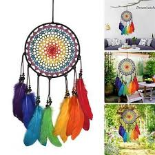 Dream Catcher Rainbow Colorful Dreamcatchers Kids Room Hanging Decor Non Native American Crafts Collectibles Native American Us Collectibles