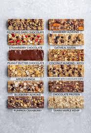 12 best healthy homemade granola bars