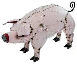 rustic pig farmhouse garden statues