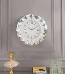nyoka mirrored wall clock 1stopbedrooms