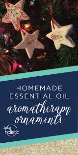 aromatherapy ornaments with essential oils