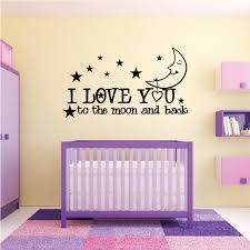 I Love You Moon Wall Decal