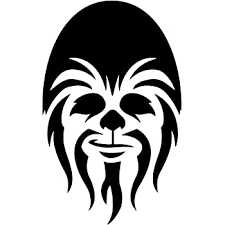 Amazon Com Bargain Max Decals Wookie Head Silhouette Decal Notebook Car Laptop 5 5 Black Automotive