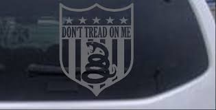 Gadsden Flag Don T Tread On Me Shield Car Or Truck Window Laptop Decal Sticker Ushirika Coop