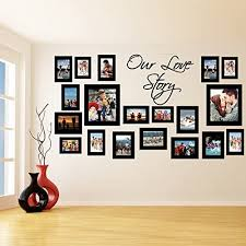 Amazon Com Slaf Ltd 55 X 30 Vinyl Wall Decal Picture Frames Design Our Love Story Photos Art Decor Sticker Photo Frame Removable Stickers Free Random Decal Gift Home Kitchen