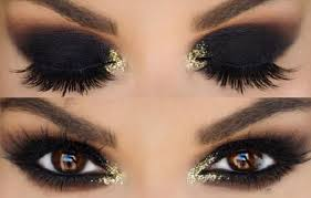 black and gold eye makeup looks