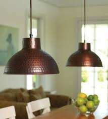 hammered copper pendant lighting