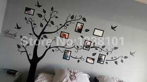 Free Shipping Large 200 250cm 79 99in Black 3d Diy Photo Tree Pvc Wall Decals Adhesive Family Wall Stickers Mural Art Home Decor Akolzol Com