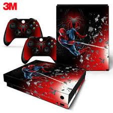 Xbox One X Console Skin Decal Sticker Spider Man Superhero Custom Design Set 743031187080 Ebay