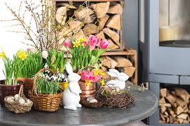 easter fireplace mantel decoration