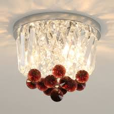 red crystal ceiling light fixture