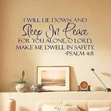 Sleep In Peace Bible Verse Safety Psalm Buy Online In French Polynesia At Desertcart