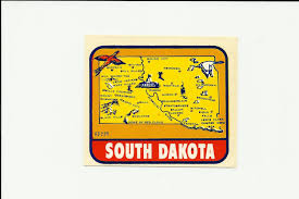 Vintage Style Travel Vinyl Decal Sticker Auto Truck South Dakota Rd229 Nos Mint