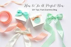diy tips how to tie a perfect bow