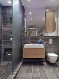 bathroom tile ideas for gray vanity