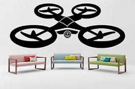 Quadrocopter Shop Wall Decal Room Vinyl Sticker Decor Mural Drone Camera F2338 751778745333 Ebay