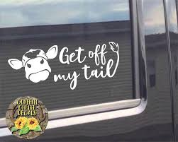 Heifer Decal Cow Decal Car Decal Truck Decal Get Off Family Car Decals Truck Decals Cute Car Decals