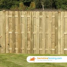 Planed And Profiled Picket Fence Panels 6ft X 6ft Natural Berkshire Fencing