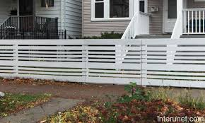 Horizontal White Fences Google Search Fence Design Front Yards Diy Wood Fence