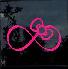Hello Kitty Pink Bow Infinity Window Decal Sticker Custom Sticker Shop