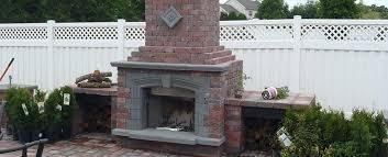 outdoor fireplace brick plans