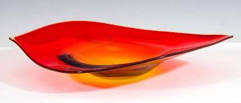 murano sommerso art glass bowl