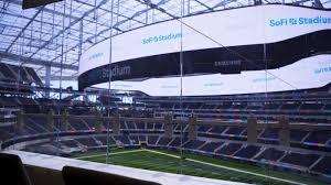 SoFi Stadium roof signage installed as ...