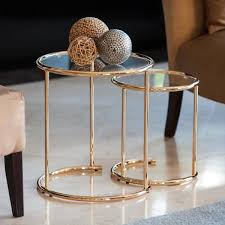 danya b gold nested round end tables