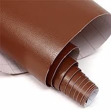 Amazon Com Hitommy15050cm Car Leather Textured Vinyl Wrap Sticker Decal Sheet Film Brown Kitchen Dining