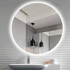 bathroom mirror round backlight led